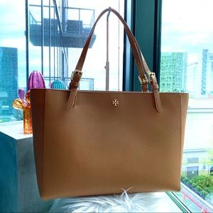 Tory Burch Emerson Large Brown Tote
